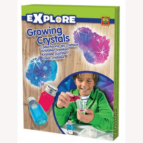 Набор серии Исследователь - Растущие Кристаллы (синий, розовый, инструменты)