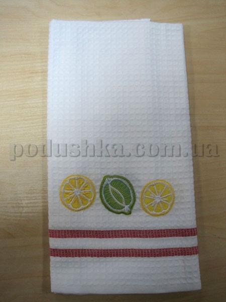Полотенце кухонное вафельное Remzi Лайм