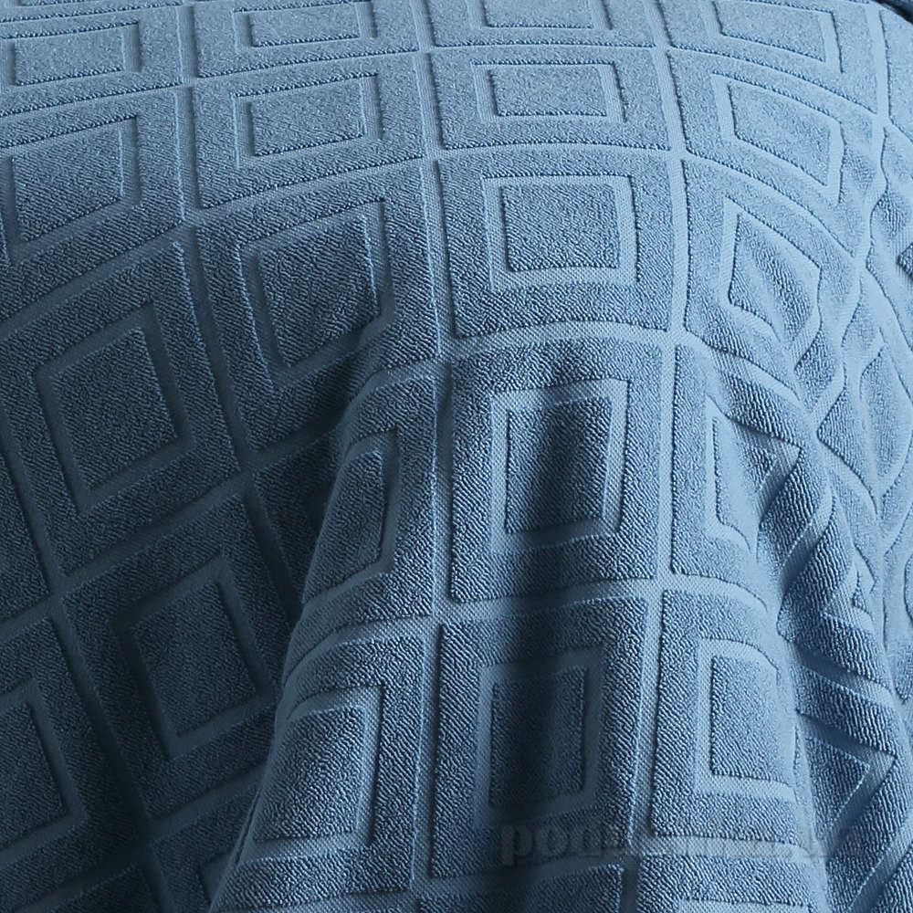Простынь-покрывало махровая Pavia Violeta синяя 220х240 см  Pavia