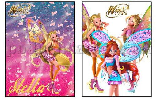 Постельное белье TAC WINX MOVIE 3D STELLA с простыней на резинке