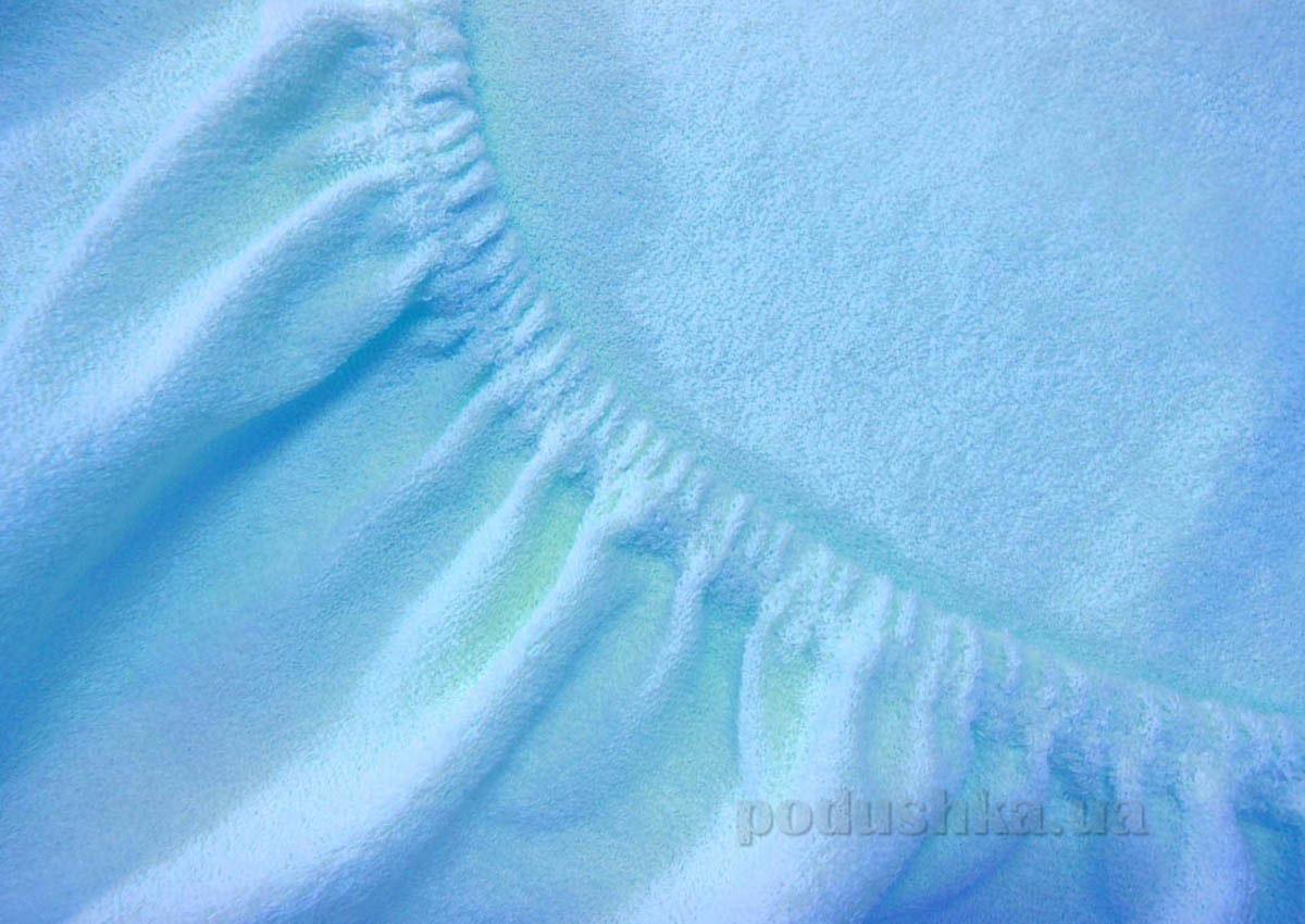 Простынь махровая Arya TR1002125 голубая 200х220 см  ARYA