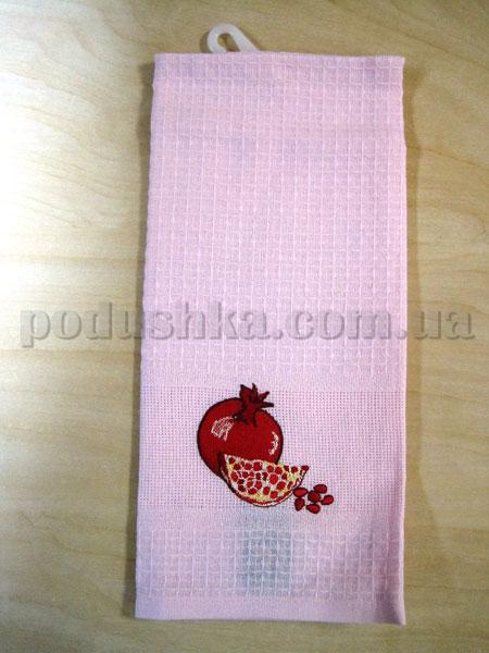 Набор вафельных кухонных полотенец Mariposa 012 Гранат персиковый