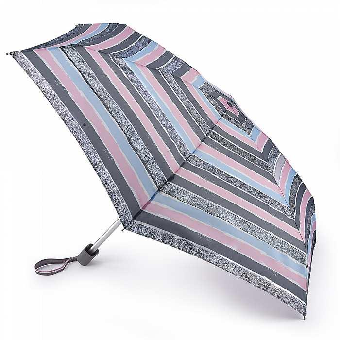 Женский зонт Fulton Tiny-2 L501 Sparkle Stripe искристые полосы