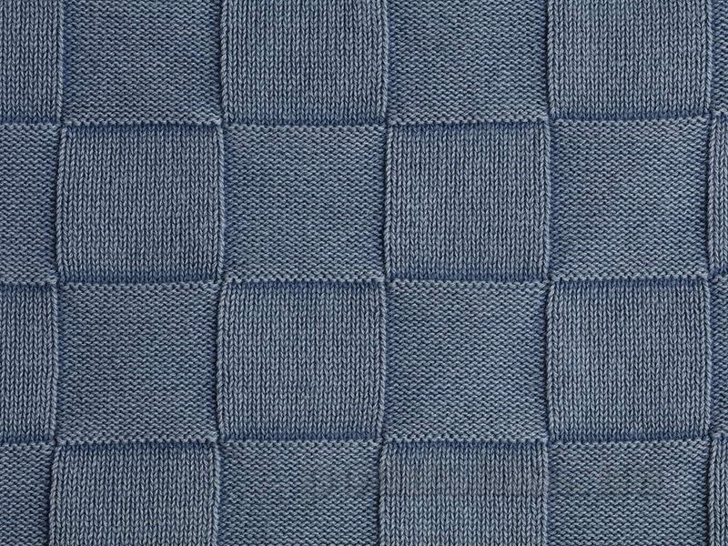 Вязанный плед накидка Pavia Colm синий 130х170 см  Pavia