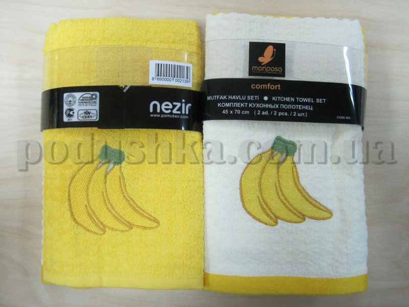 Набор махровых кухонных полотенец Mariposa Бананы
