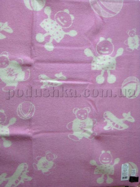 Одеяло детское Игрушки розовое Klippan Saule