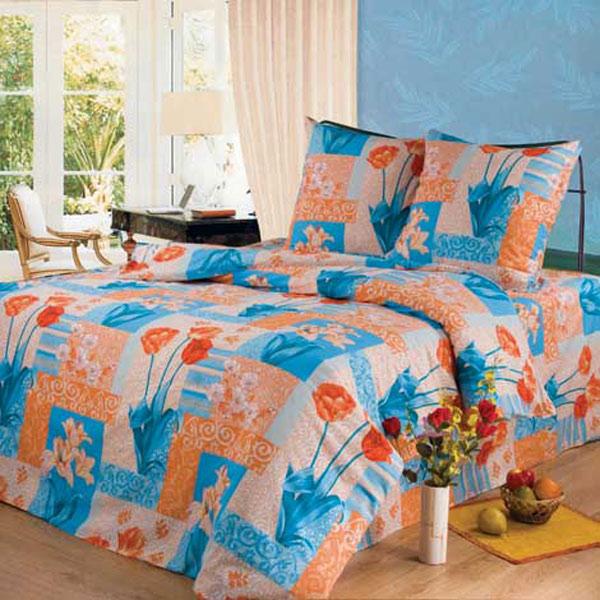 Постельное белье Вальс цветов голубой