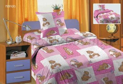 Постельное белье в кроватку Мишка розовый (с1004_72312)