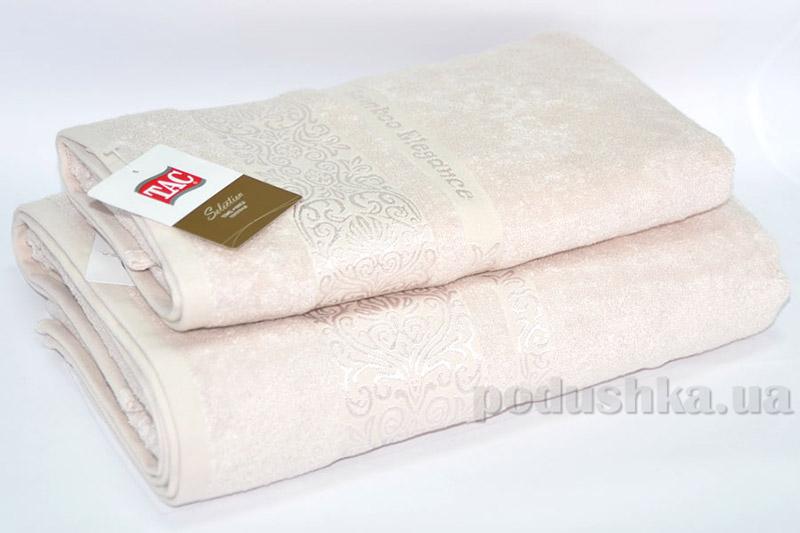 Набор махровых полотенец TAC Bamboo Elegance бежевых
