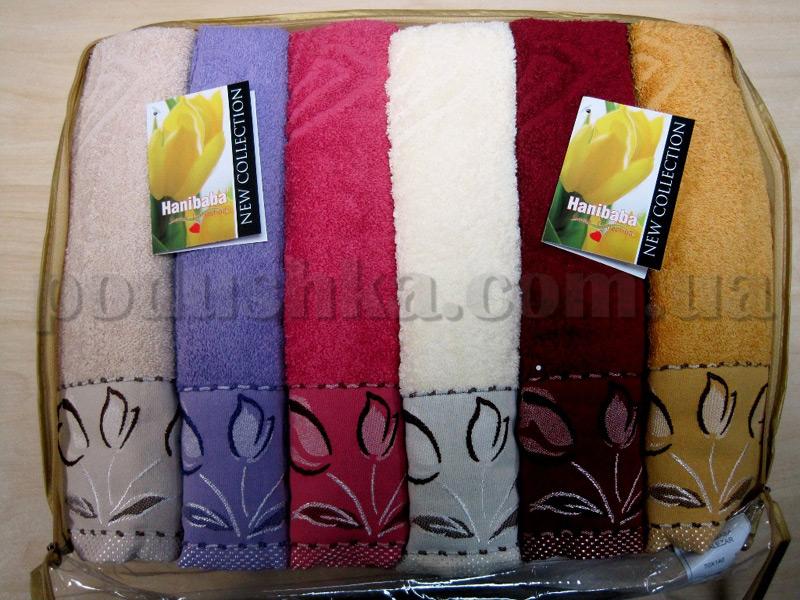 Набор махровых полотенец Hanibaba Lalezar