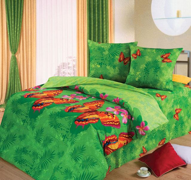 Постельное белье Махаон зеленый