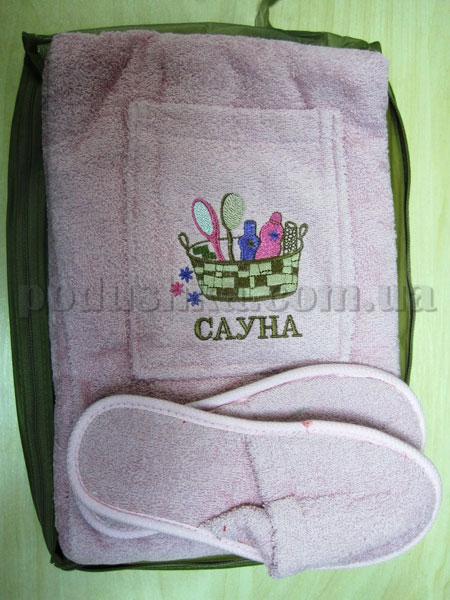 Набор для сауны женский Mariposa розовый Корзинка