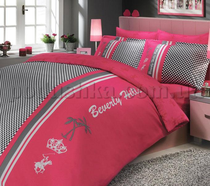 Постельное белье BHPC 014 сатин розовый