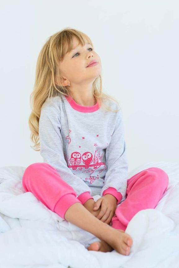 Пижама для девочки Совушки 03-00674 Модный карапуз