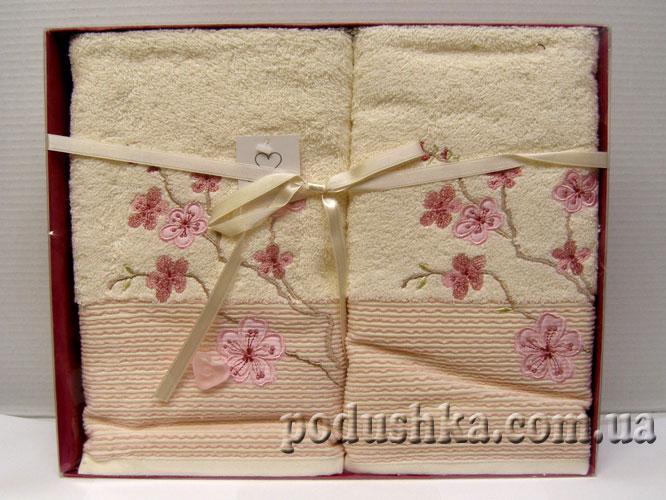 Набор махровых полотенец Сакура (2шт) лицо, Pavia