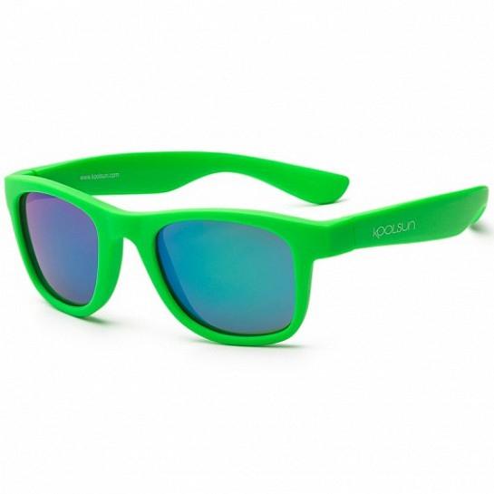 Детские солнцезащитные очки Koolsun неоново-зеленые серии Wave 1+ KS-WANG001