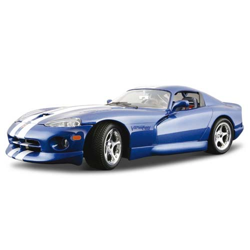 Авто-конструктор - Dodge Viper GTS Coupe (1996) (синий, 1:18)