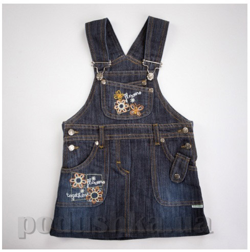 Сарафан для девочек с карманами Бемби СФ11 джинс