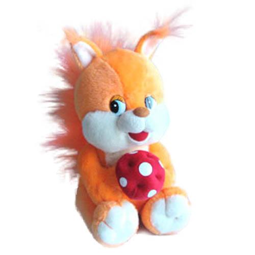 Мягкая игрушка - Белка малая музыкальная, 20 см
