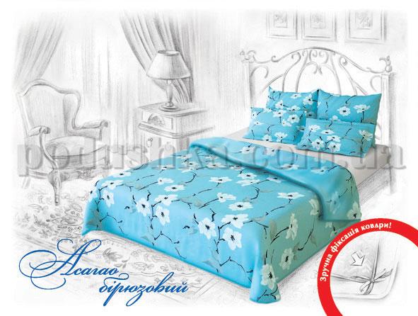 Постельное белье Home line Асагао бирюзовый