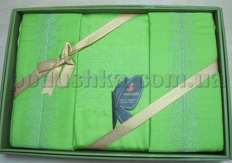 Постельное белье Mariposa Lal Green с вышивкой