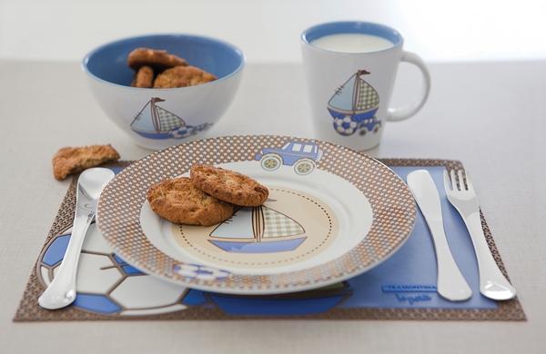 Набор столовый 4 прибора Tramontina Baby Le Petit Blue 64250/680