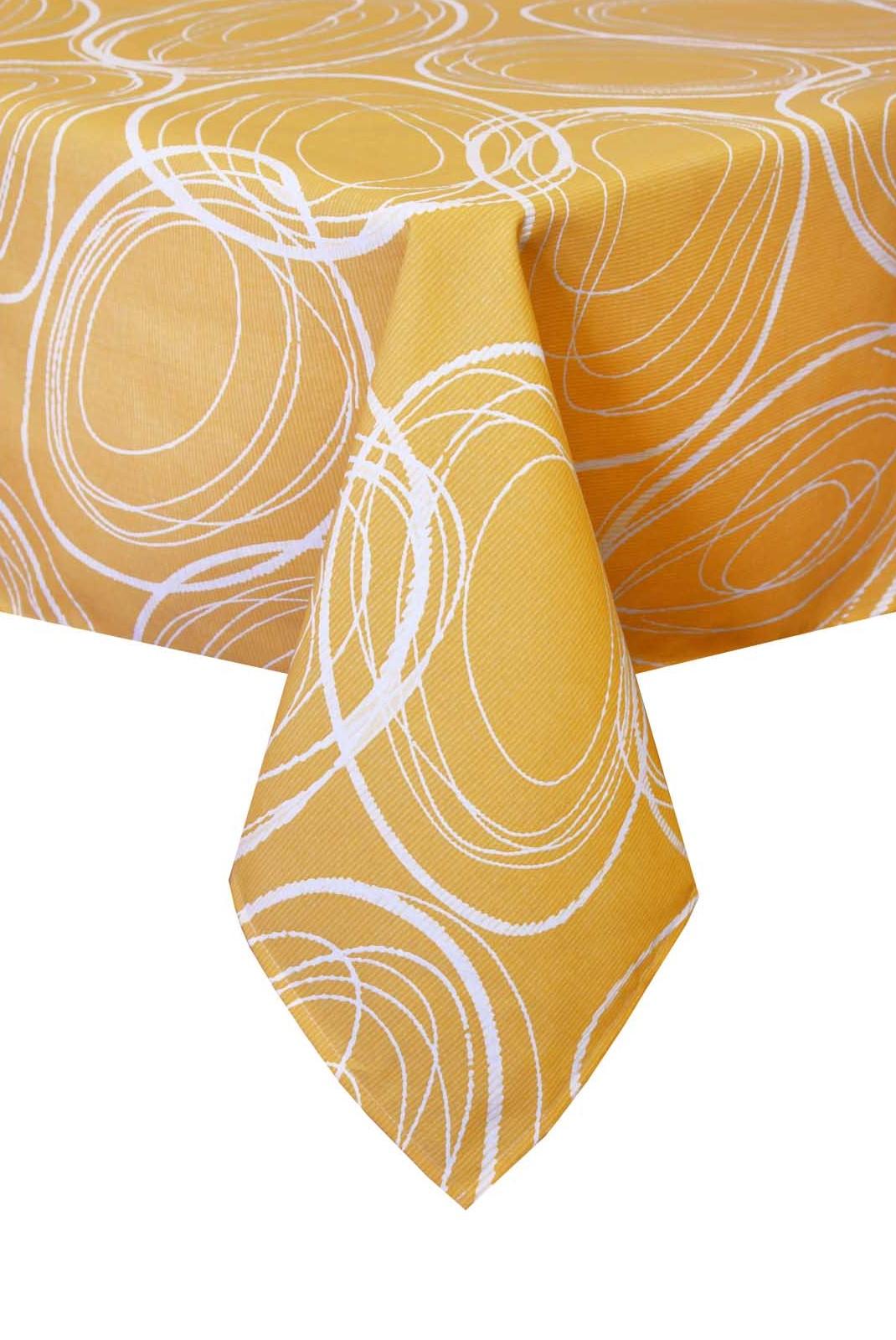 Скатерть Прованс Круги на желтом с тефлоновым покрытием