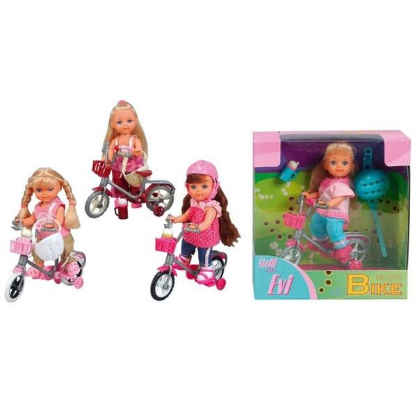 Кукла Ева на горном велосипеде 4 вида   Steffi Evi Love