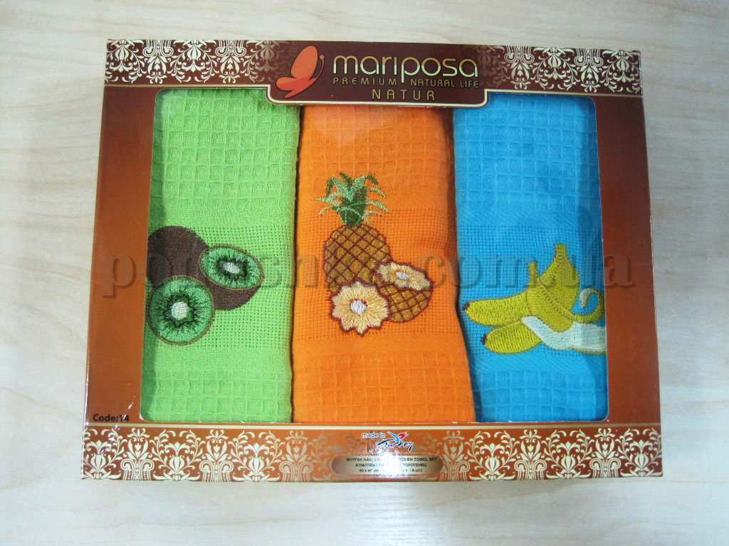 Набор вафельных кухонных полотенец Mariposa 014 Фрукты
