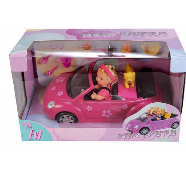 Кукла Ева в машине New Beetle   Simba