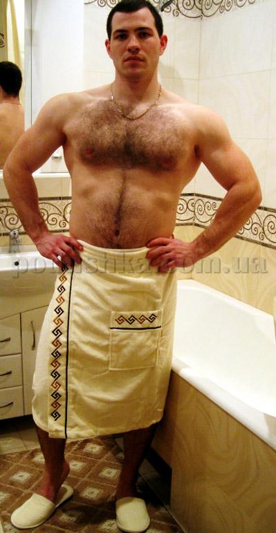 Набор для сауны мужской Nusa 040 кремовый