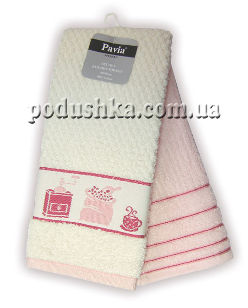 Набор полотенец PAVIA кухня PEMBE-ECRU