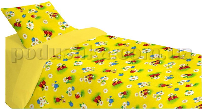 Постельное белье в кроватку Шуйские ситцы Божья коровка - коллекция Персик