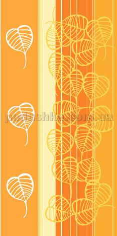 Полотенце махровое Унисон Осенний микс оранжевый