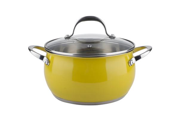 Кастрюля Ringel Bavaria 20 см 3.4 л с крышкой желтый RG-2009-20/1