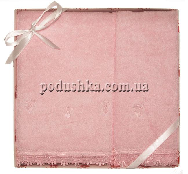Набор махровых полотенец ROMANTIK LACE PINK, Pavia