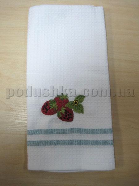 Полотенце кухонное вафельное Remzi Три клубники
