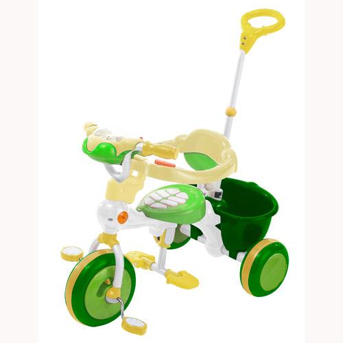 Велосипед трехколесный с музыкальной панелью (зеленый)