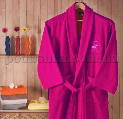 Халат махровый шалевый BHPC 500 темно-розовый