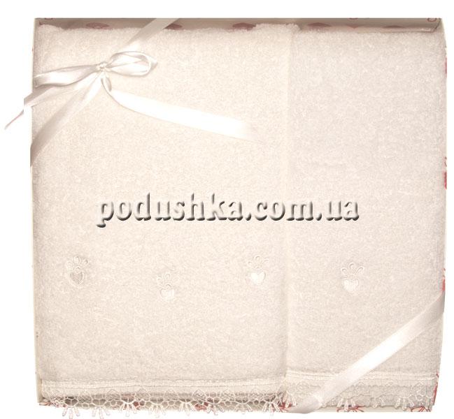 Набор махровых полотенец ROMANTIK LACE WHITE, Pavia