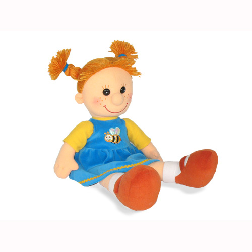 Мягкая игрушка - Кукла Майя в платье с пчелкой