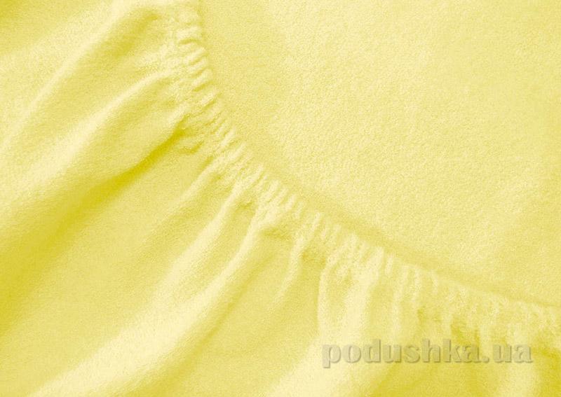 Простынь махровая Arya TR1002125 желтая 200х220 см  ARYA