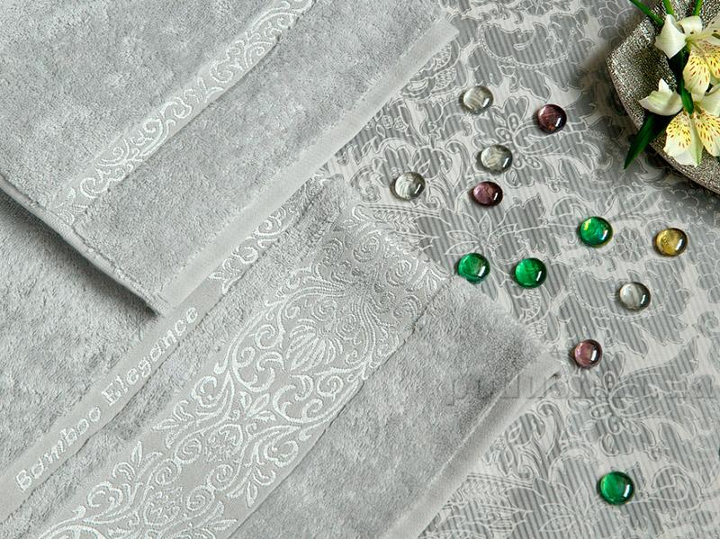 Набор махровых полотенец TAC Bamboo Elegance светло-серых