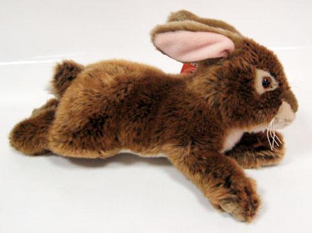Лежачий коричневы кролик,23 см, L78007BR-AW