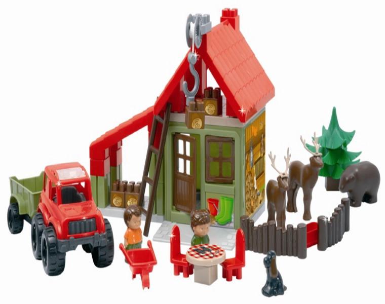 Конструктор Лесной домик со зверюшками и людьми