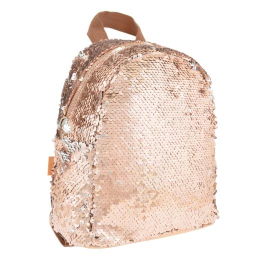 Рюкзак молодежный с пайетками Yes GS-02 Gold 557649 золотой