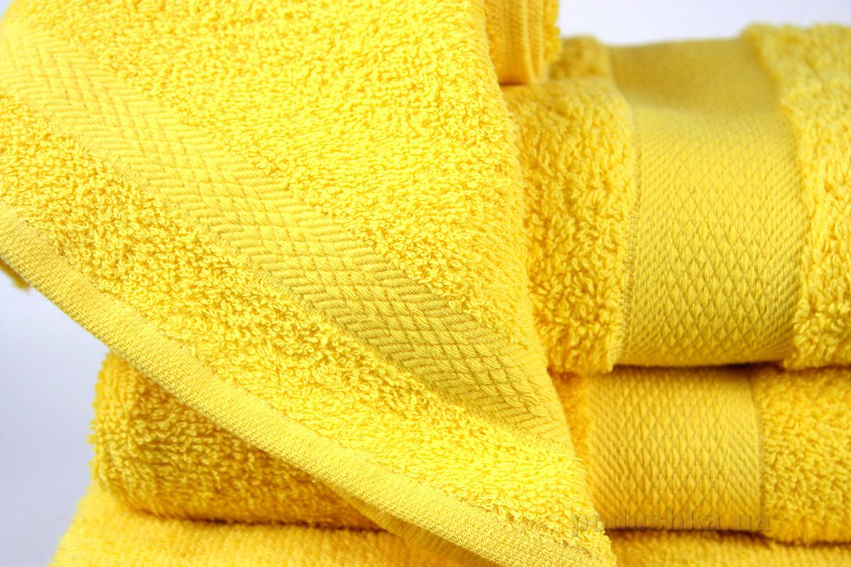 Махровое полотенце IzziHome Smiley желтое 30х30 см  Izzihome
