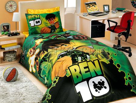 Постельное белье Hobby License Ben10 зеленый