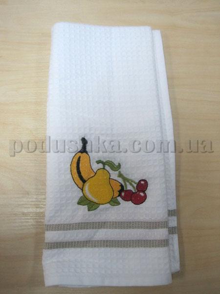 Полотенце кухонное вафельное Remzi Груша, банан, вишня
