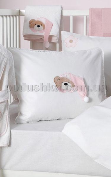 Спальный комплект в кроватку Karaca Bebek Bear розовый